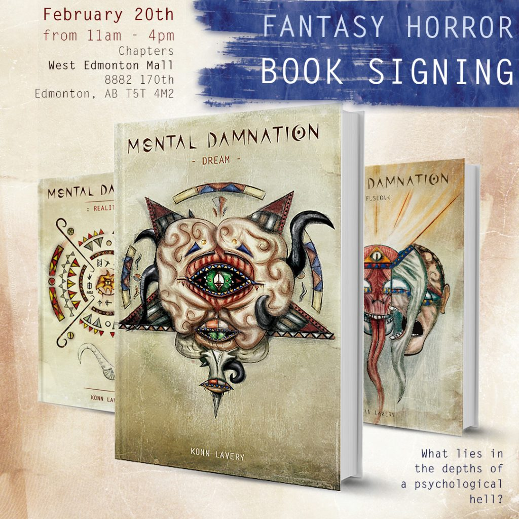 Mental Damnation West Edmonton Mall Chapters Book Signing
