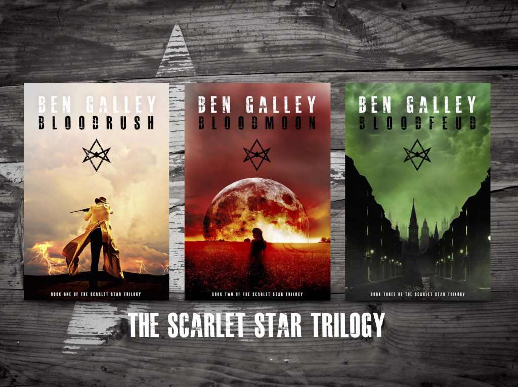 Author Ben Galley's The Scarlet Star Trilogy