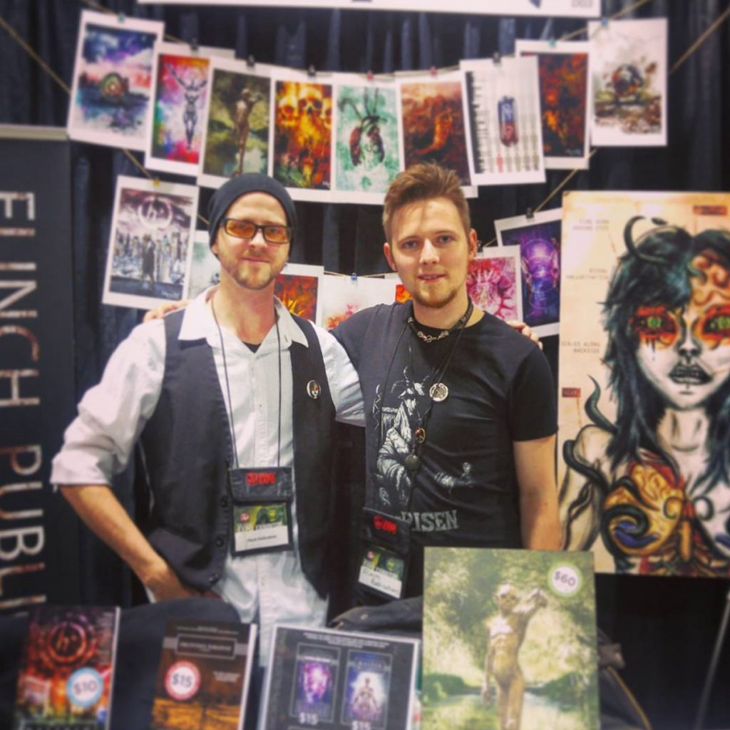 Matthew Gillies and Konn Lavery at the Calgary Comic Expo