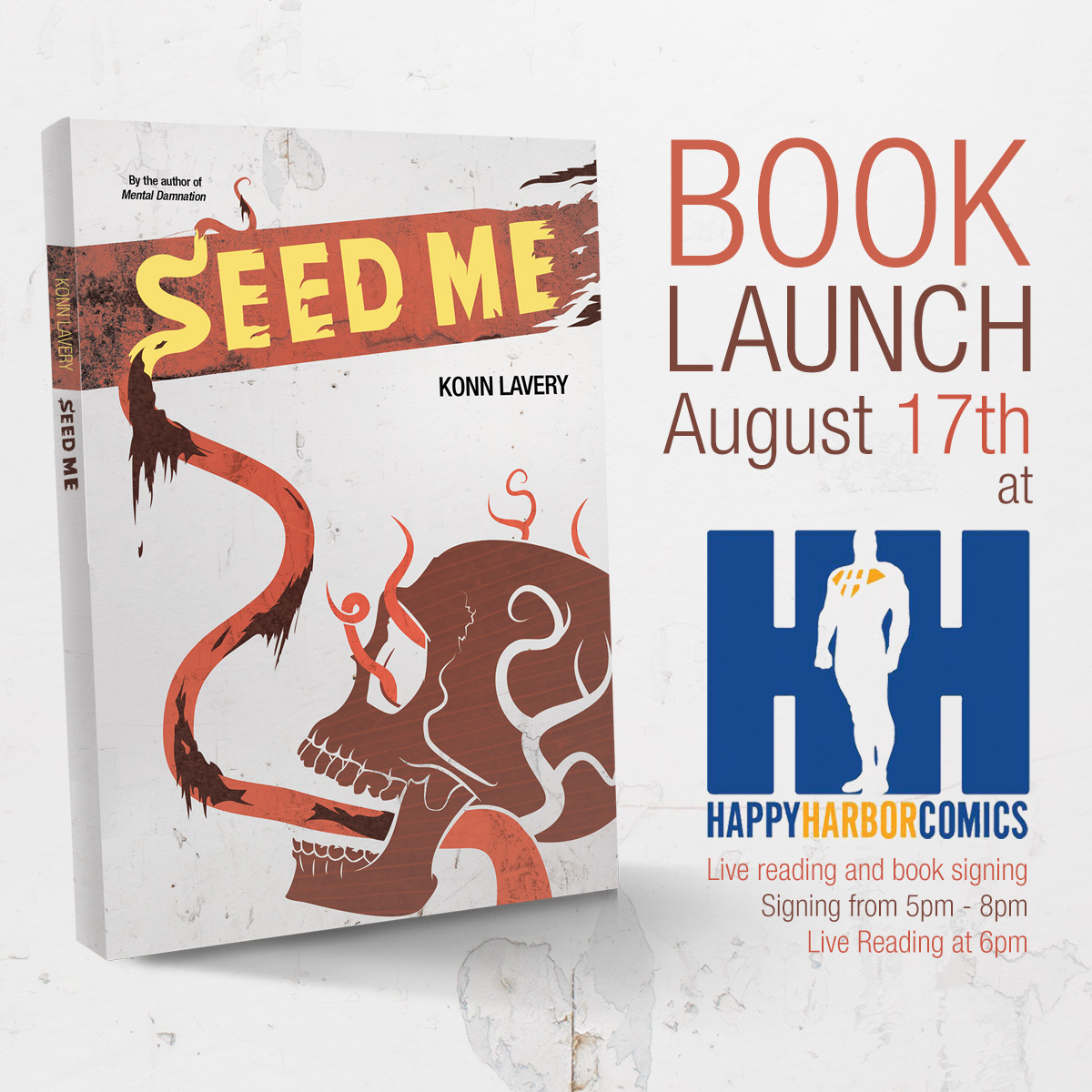 Seed Me Book Launch and Live Reading at Happy Harbor Comics