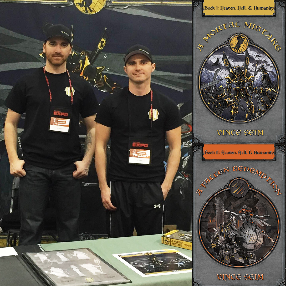 Vince Seim and Chance Clark of the Heaven, Hell & Humanity Epic Fantasy Novel Series