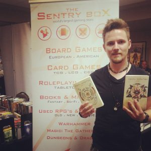 Konn Lavery at the Sentry Box Booth with Mental Damnation