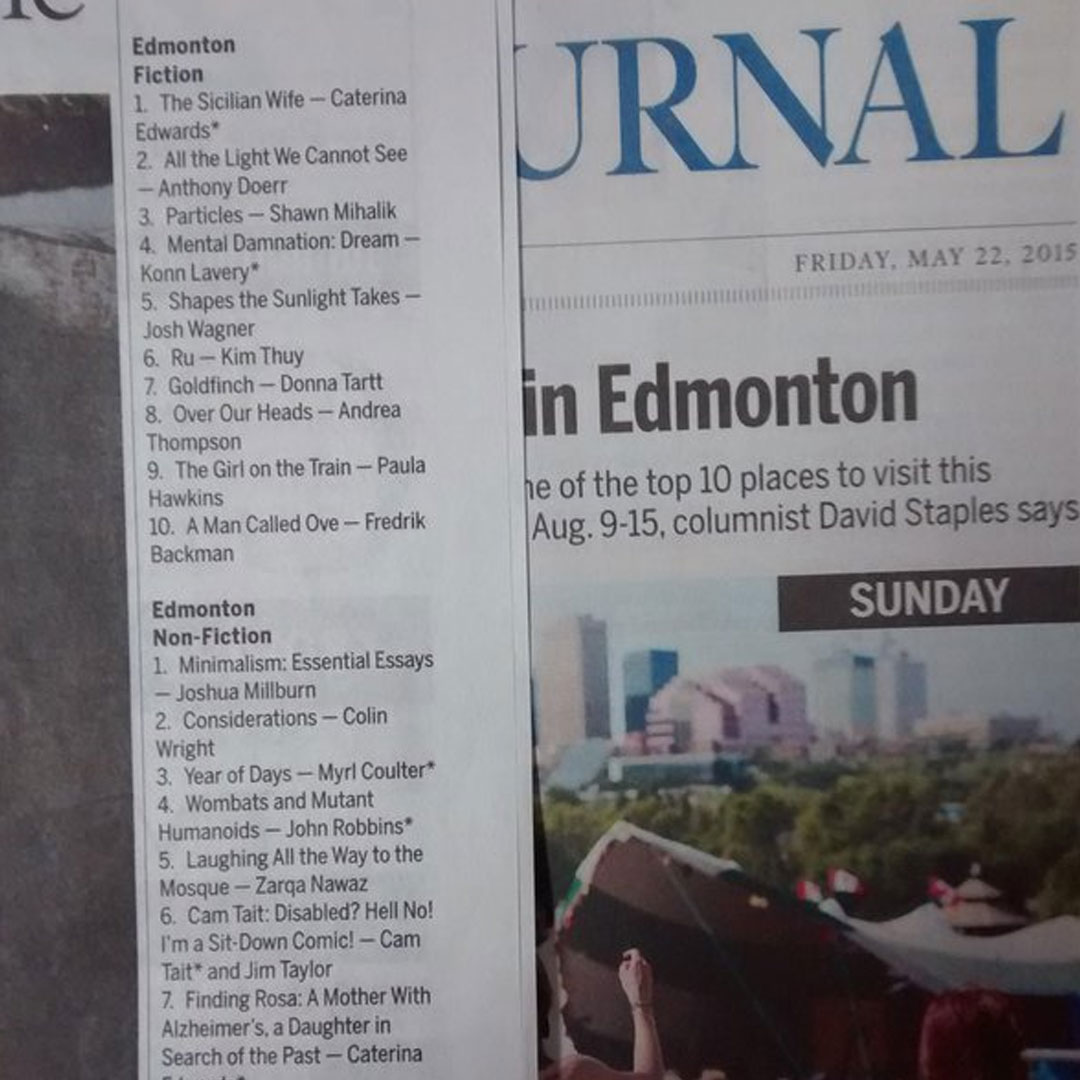 Dream Hits Edmonton Journal Bestseller Chart