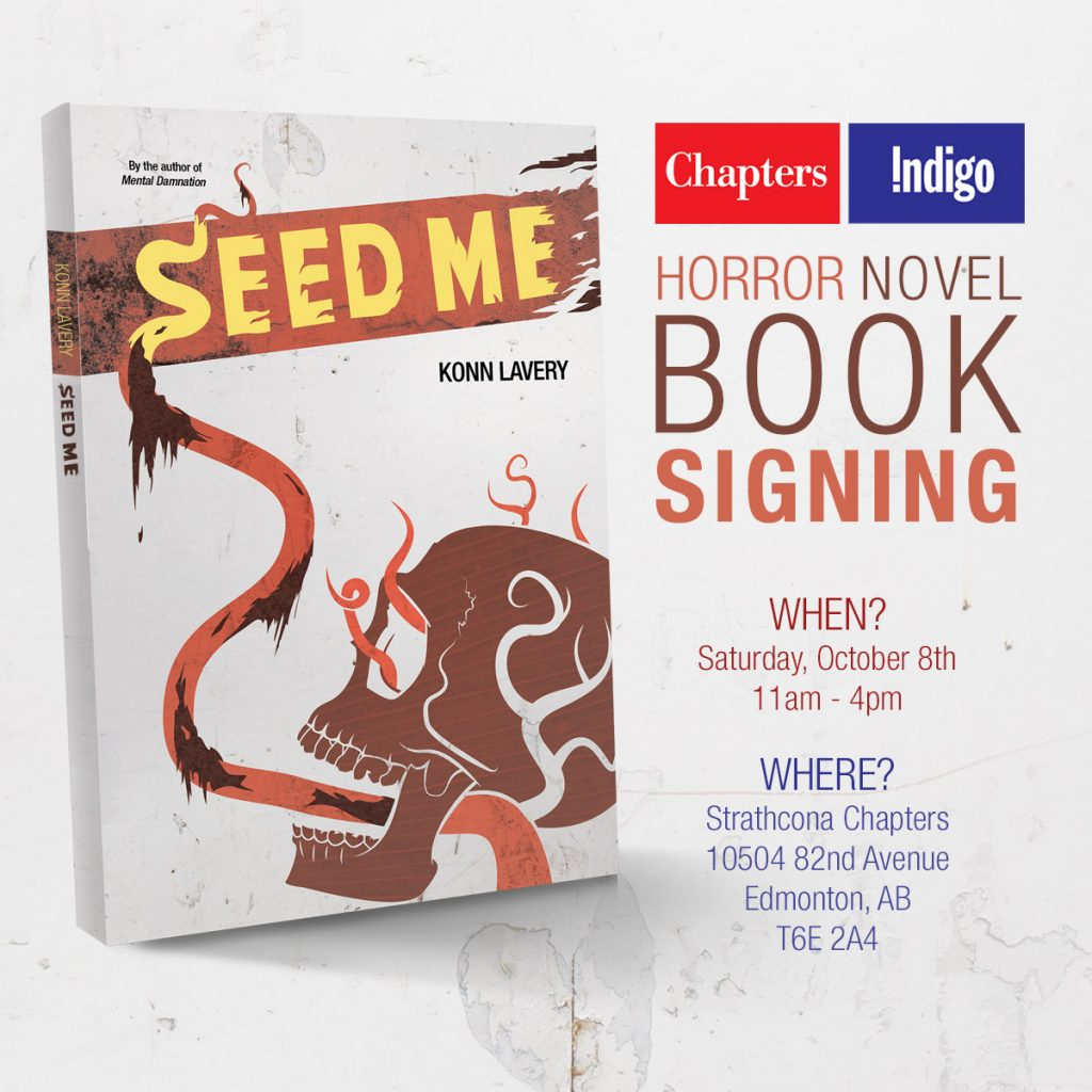 Strathcona Chapters Seed Me Signing October 2016