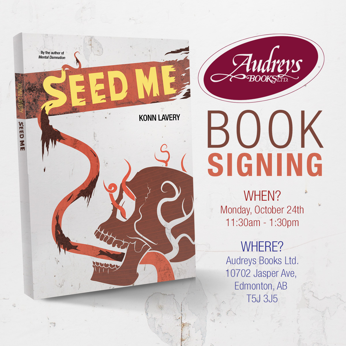 Seed Me Signing at Audreys Books