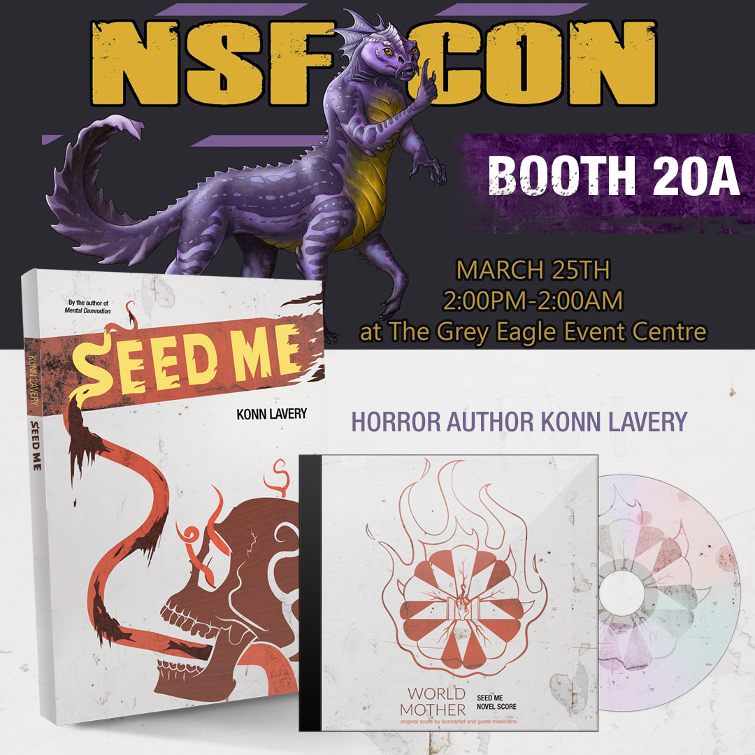 Horror Author Konn Lavery at NSF Con