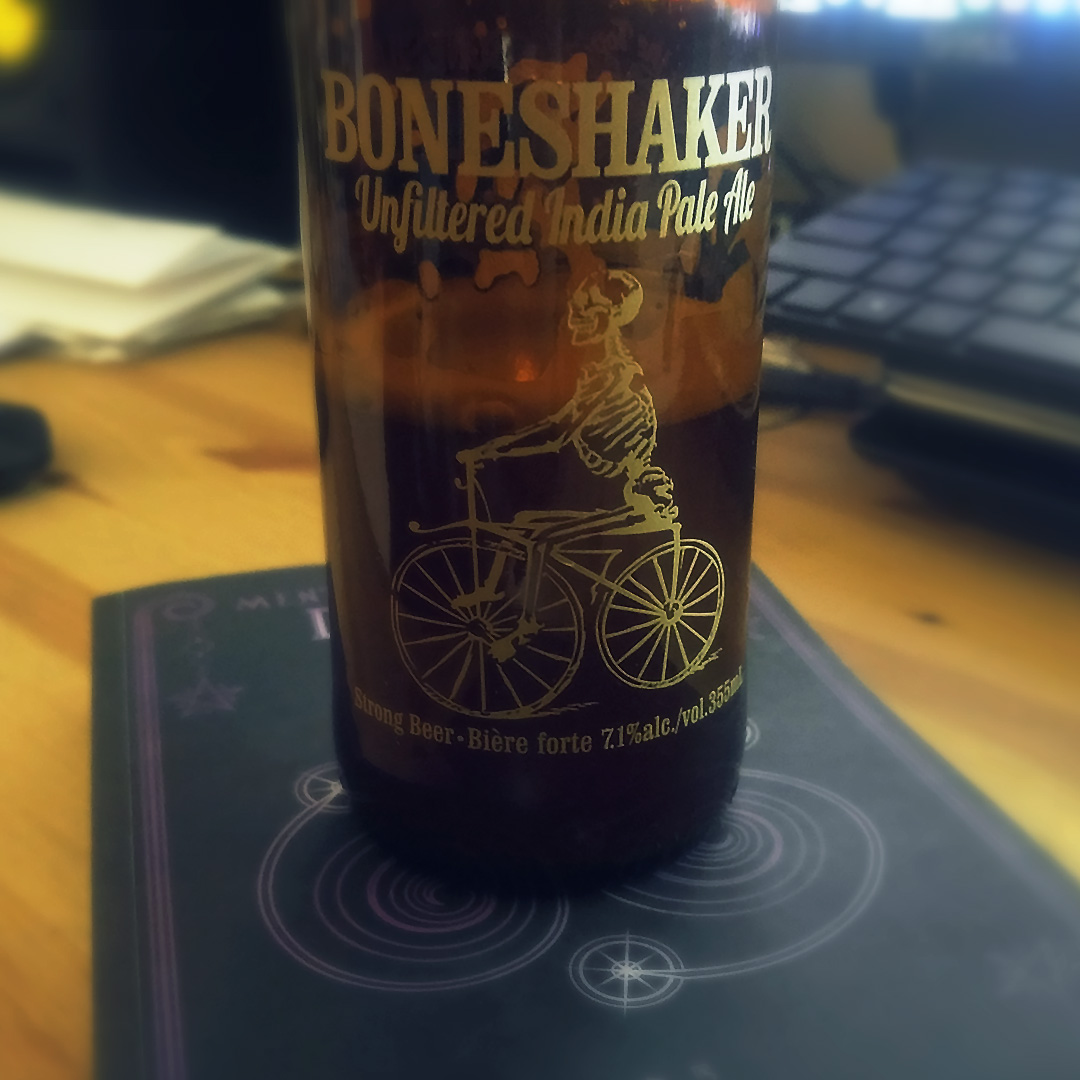 Trick or Treat? Boneshaker Unfiltered Indian Pale Ale - Unprocessed Thoughts Kon Lavery