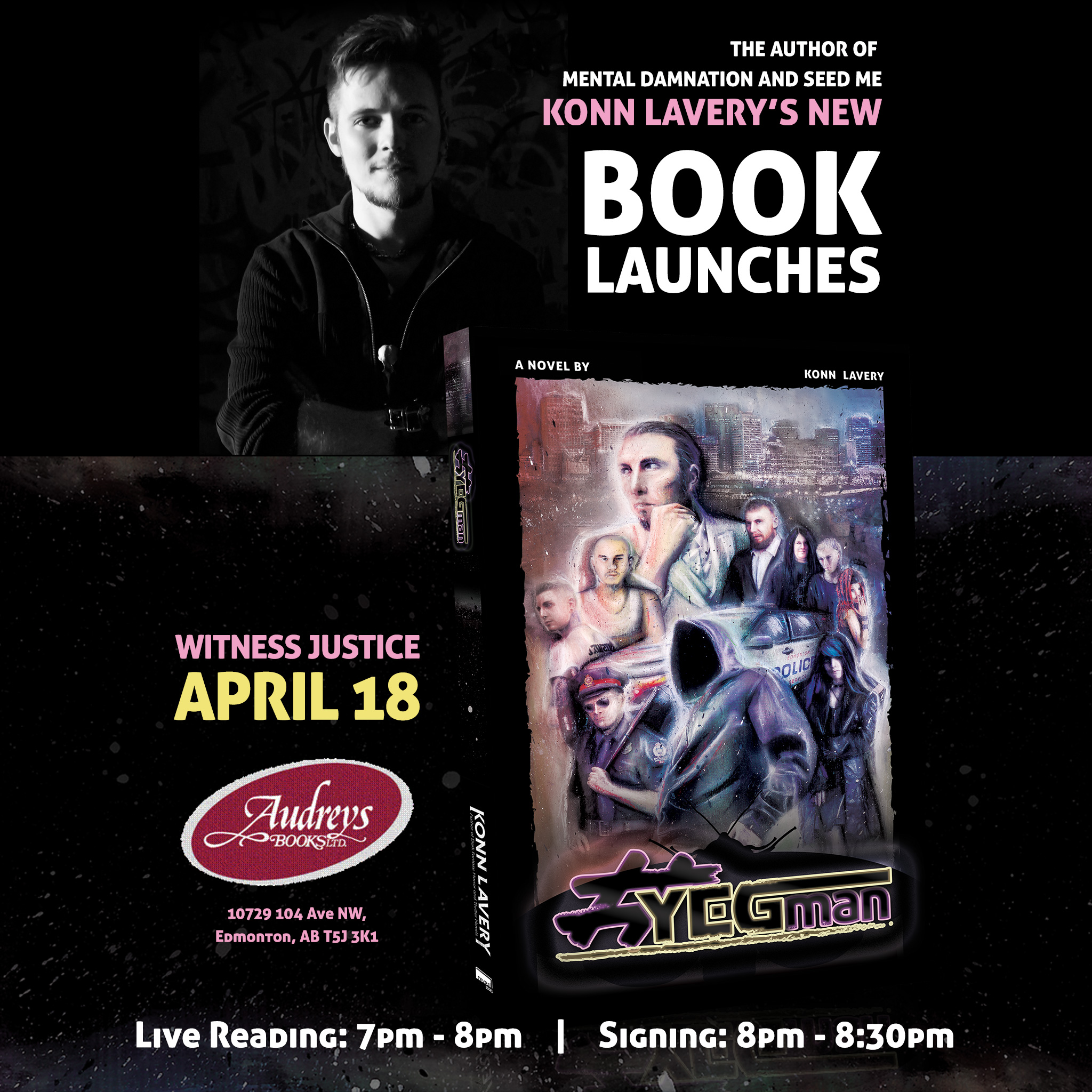 YEGman by Konn Lavery launches at Audreys Books