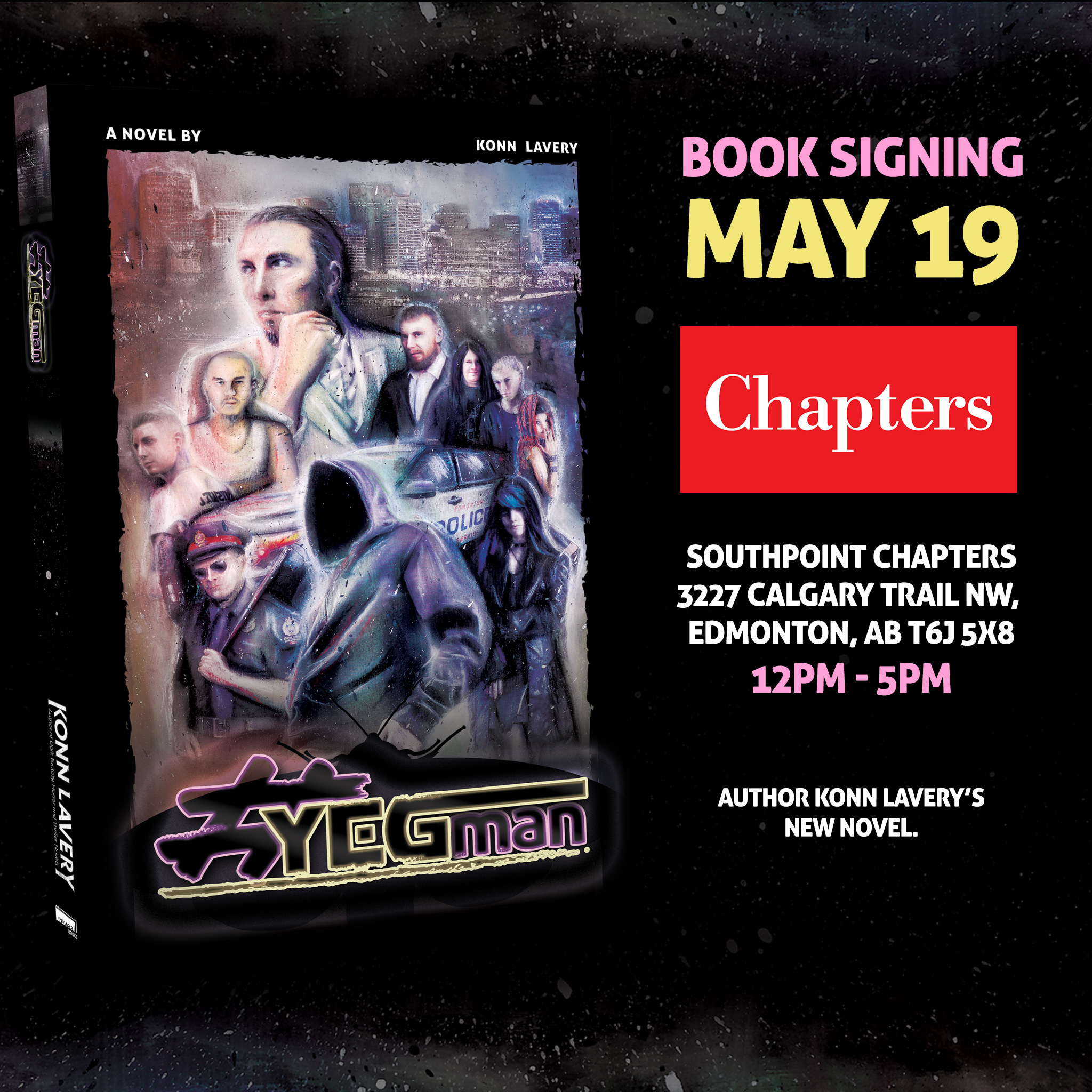 YEGman at Southpoint Chapters