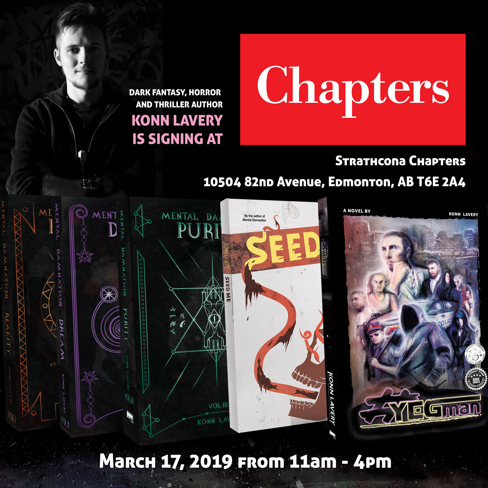 Konn Lavery Book Signing Strathcona Chapters March 2019