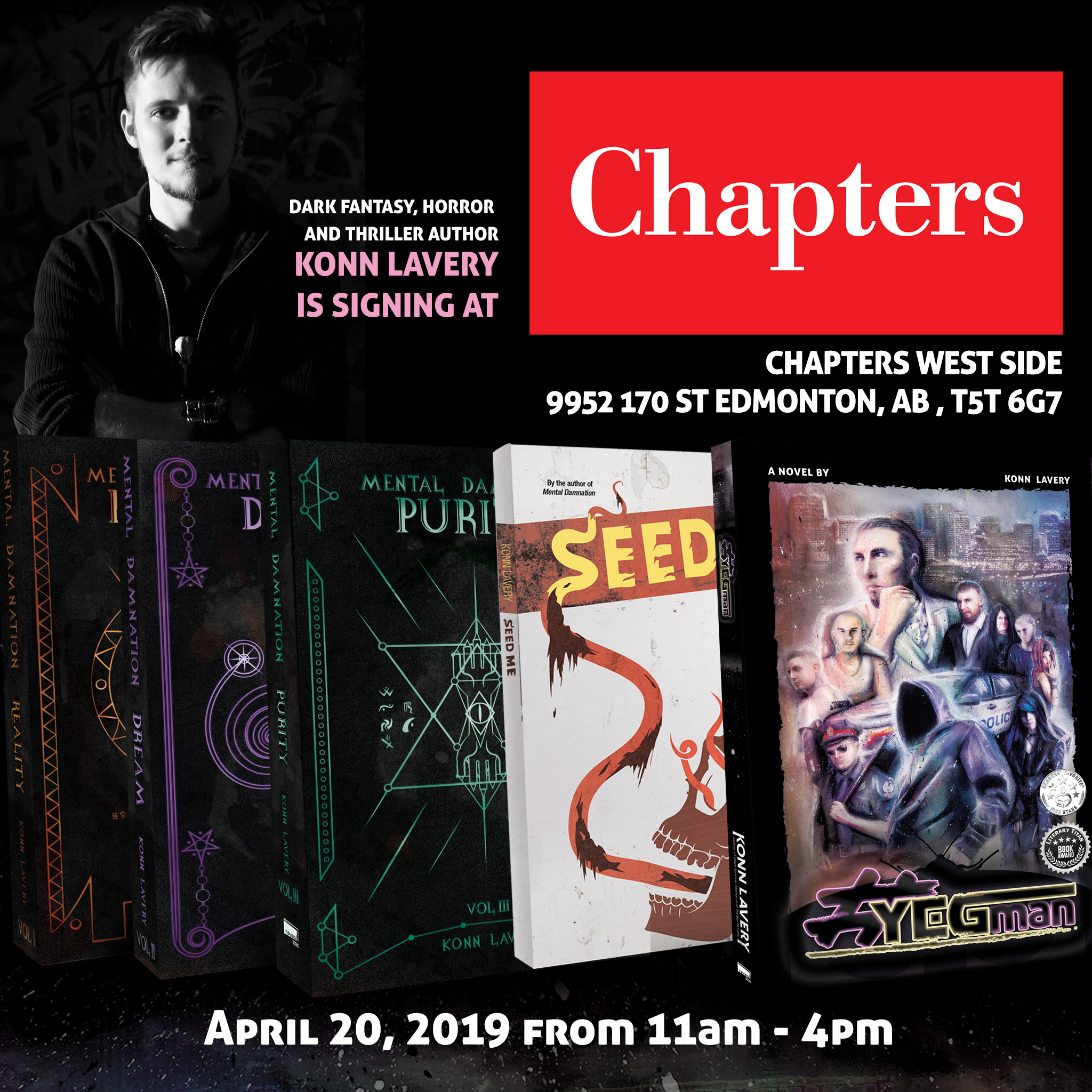Westside Chapters Konn Lavery book signing Edmonton
