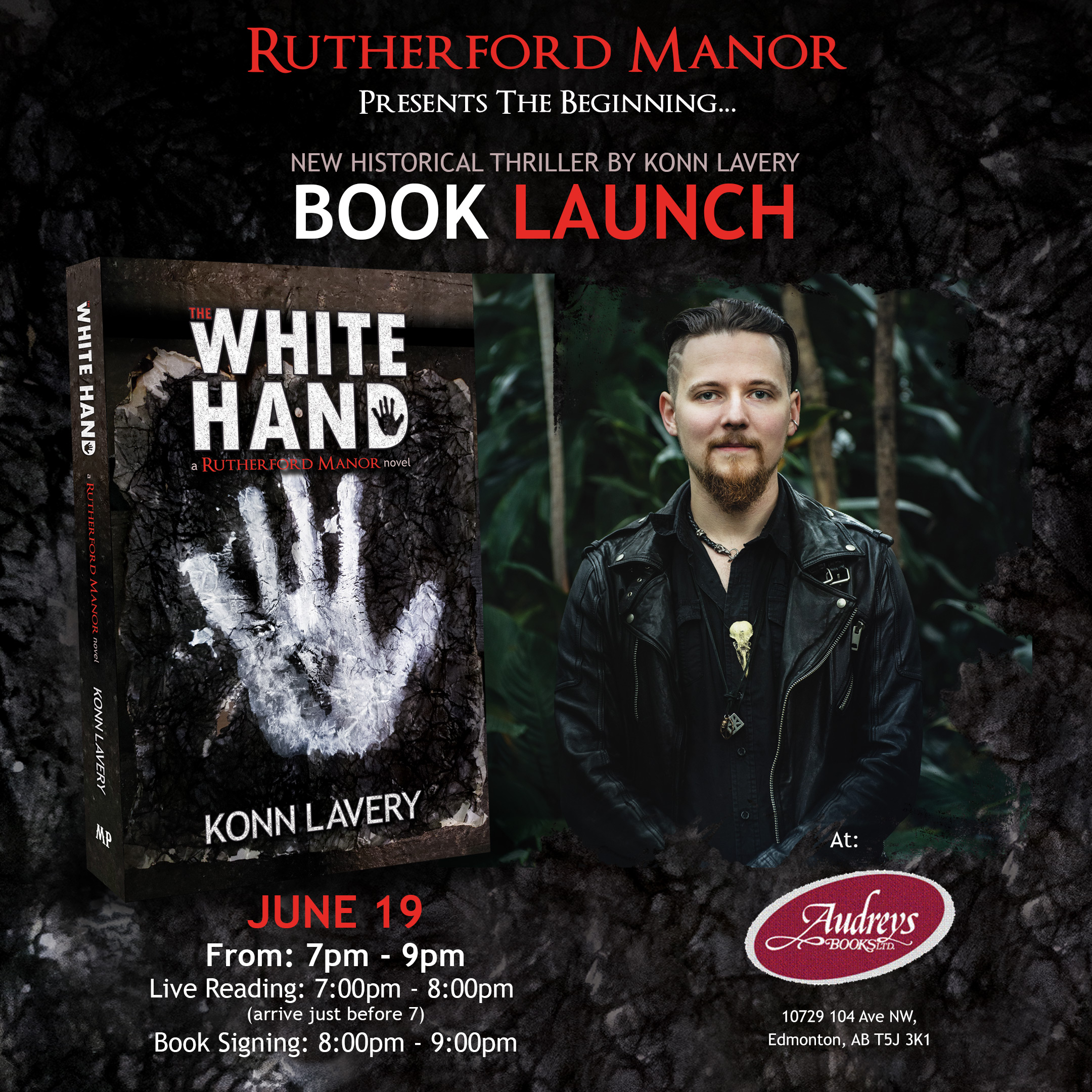 The White Hand by Konn Lavery Launch at Audreys