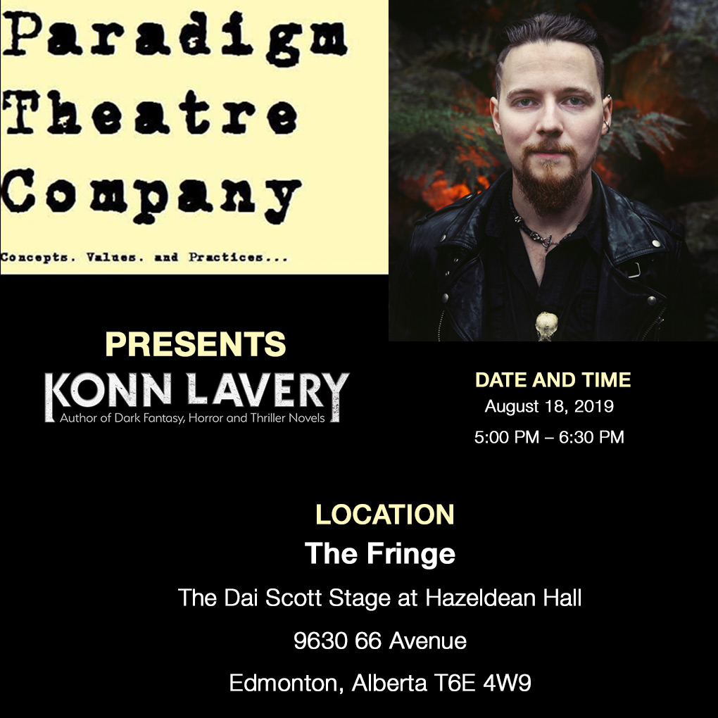 Paradigm Theatre Presents Author Konn Lavery