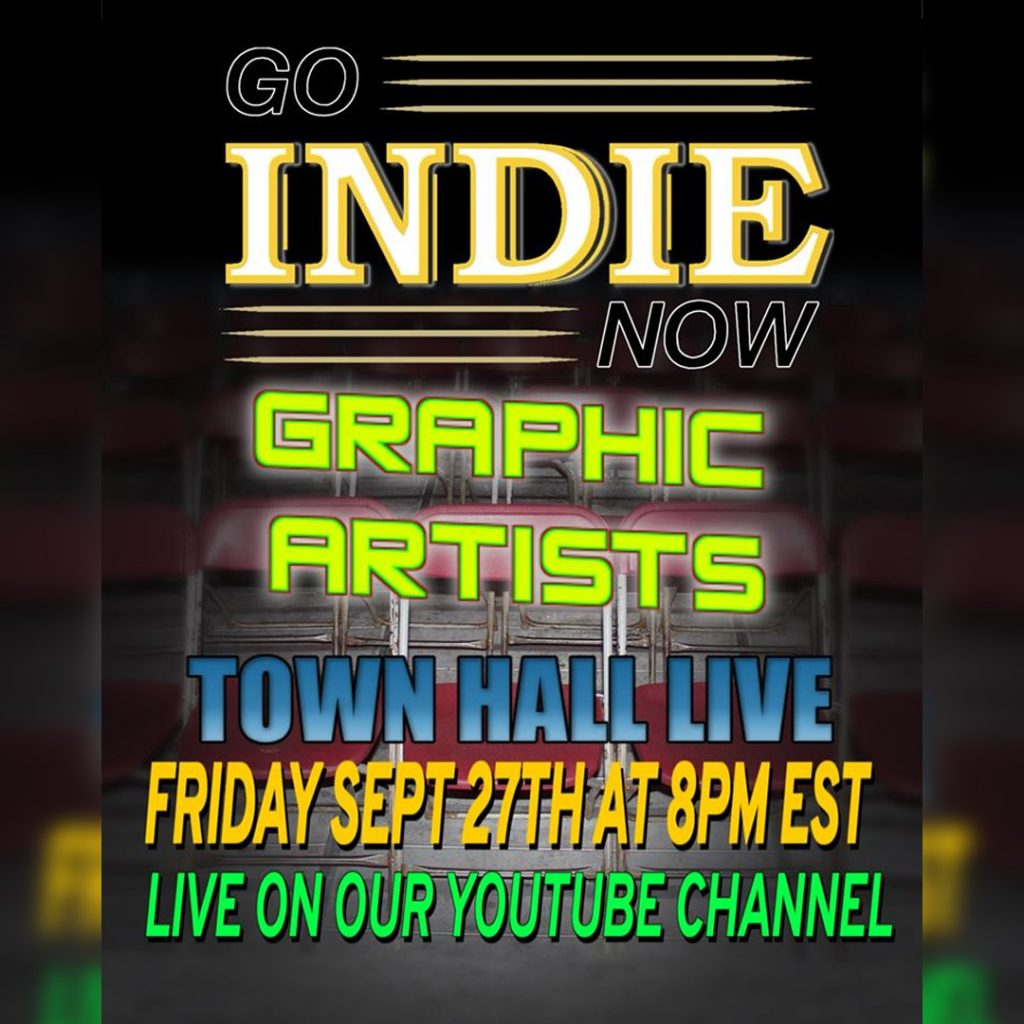 Go Indie Now Town Hall LIVE Graphic Designers