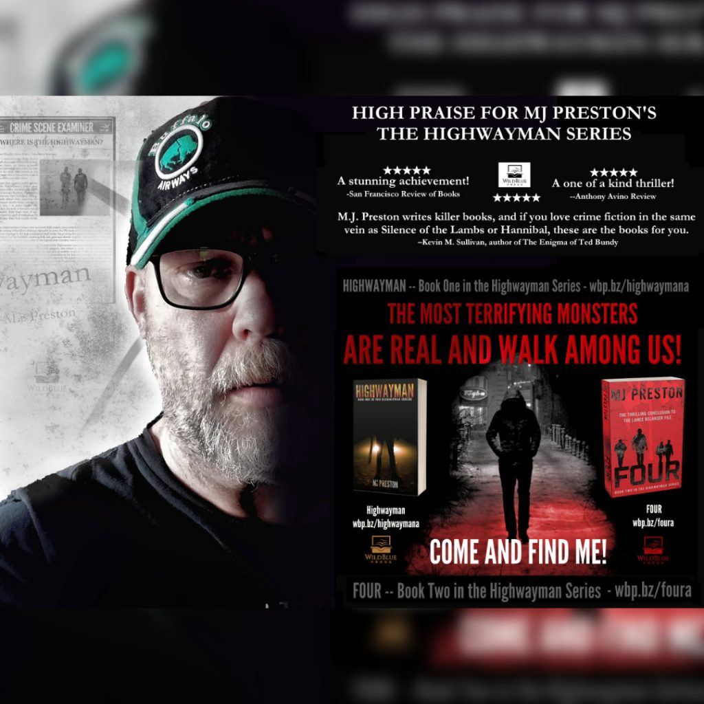 MJ Preston, a Canadian Horror author. Highwayman novel series