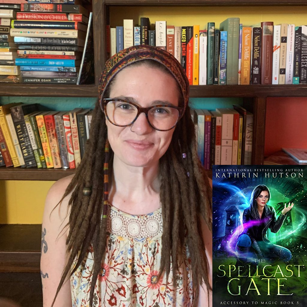 Author Kathrin Hutson's new novel, The Spellcast Gate, Accessory to Magic series.